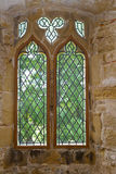 Old leaded abbey window Stock Photos