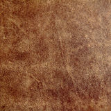 Old leather. Texture of an old brown leather royalty free stock photography