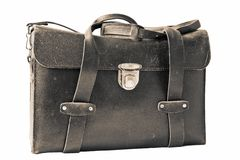 Old leather bag Stock Photography