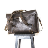 Old leather bag Stock Photos