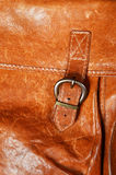 Old leather bag detail Royalty Free Stock Photos