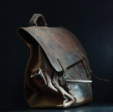 Old leather bag Royalty Free Stock Photos