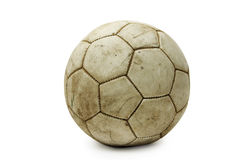 Old leather ball Stock Images