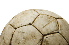 Old leather ball Royalty Free Stock Photo