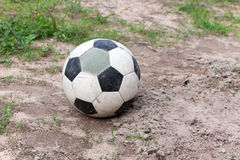 Old leather ball Stock Photo