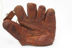 Old leather baseball glove royalty free stock photography