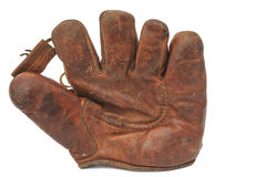 Old leather baseball glove Stock Image