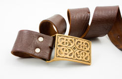 Old leather belt Stock Photography