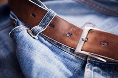 Old leather belt Royalty Free Stock Photography