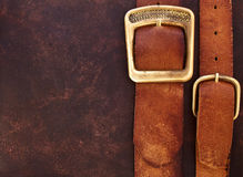 Old leather belts. Royalty Free Stock Photography