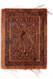 Old Leather binding Stock Image