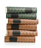 Old leather books Royalty Free Stock Image