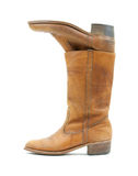Old leather boots inside one another Royalty Free Stock Photo