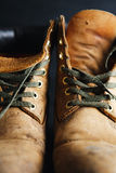 Old leather boots Royalty Free Stock Photos