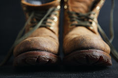 Old leather boots Stock Image
