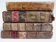 Old leather-bound books Royalty Free Stock Images