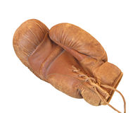 Old leather boxing glove isolated. Stock Image