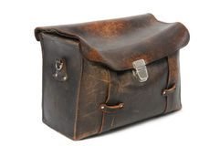 Old leather briefcase Royalty Free Stock Photo