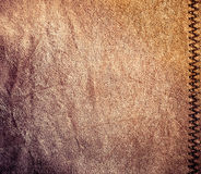 Old leather, brown leather texture Stock Photos