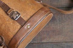 Old Leather Case Royalty Free Stock Photos