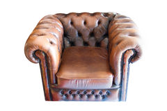 Old leather chair Stock Images