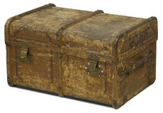 Old Leather Chest Royalty Free Stock Photo