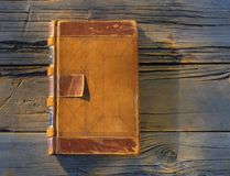 Old leather covered journal. An old leather covered journal Royalty Free Stock Image