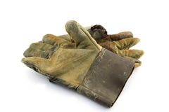 The old leather glove Stock Images