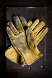 Old leather gloves Stock Photos