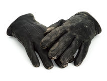 Old leather gloves Royalty Free Stock Image