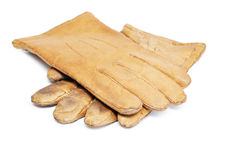 Old leather gloves Royalty Free Stock Photos