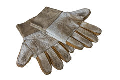 Old leather gloves Stock Photo