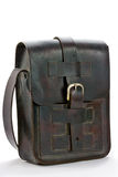 Old leather handbag Stock Photo