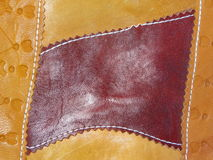 Old leather handmade Stock Images