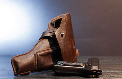 Old Leather Holster Stock Photos