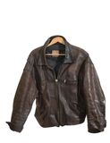 Old Leather Jacket On A White Background Royalty Free Stock Image