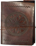 Old leather portfolio isolated Royalty Free Stock Photo