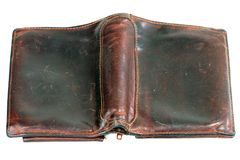 Old leather purse Royalty Free Stock Photos