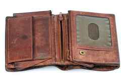 Old leather purse Royalty Free Stock Photo