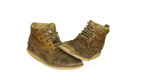 Old leather shoes Stock Photography