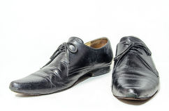 Old leather shoes man. Royalty Free Stock Images