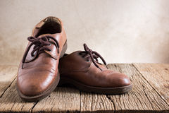 Old leather shoes Royalty Free Stock Image