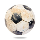 Old leather soccer ball Royalty Free Stock Image