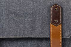 Old leather strap on the luggage Royalty Free Stock Images