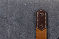 Old leather strap on the luggage Royalty Free Stock Photography