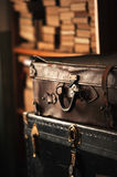 Old leather suitcase Stock Photos