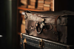 Old leather suitcase Stock Photography