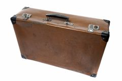 Old leather suitcase Royalty Free Stock Photo