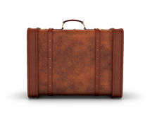 Old leather suitcase. Retro suitcase Royalty Free Stock Photo