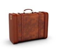 Old leather suitcase. Retro suitcase Royalty Free Stock Image